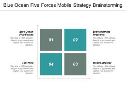 Blue Ocean Five Forces Mobile Strategy Brainstorming Problems Cpb