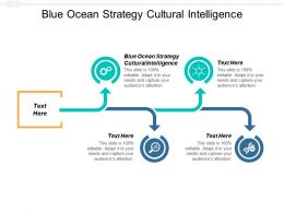 Blue Ocean Strategy Cultural Intelligence Ppt Powerpoint Presentation Portfolio Cpb