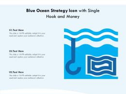 Blue Ocean Strategy Icon With Single Hook And Money