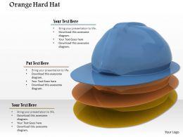 Blue Orange Yellow Hats On White Background