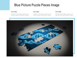 Blue Picture Puzzle Pieces Image