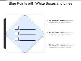 Blue Points With White Boxes And Lines