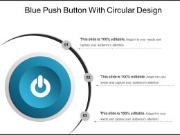 Blue Push Button With Circular Design