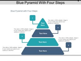 Blue Pyramid With Four Steps