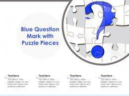 Blue Question Mark With Puzzle Pieces