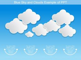 Blue Sky And Clouds Example Of Ppt