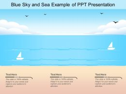 Blue Sky And Sea Example Of Ppt Presentation