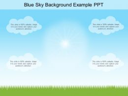 Blue Sky Background Example Ppt