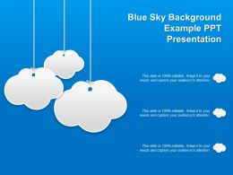 Blue Sky Background Example Ppt Presentation