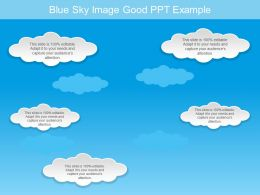 Blue Sky Image Good Ppt Example