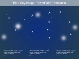Blue Sky Image Powerpoint Templates