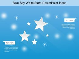 Blue Sky White Stars Powerpoint Ideas
