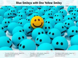 Blue Smileys With One Yellow Smiley