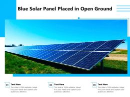 Blue Solar Panel Placed In Open Ground