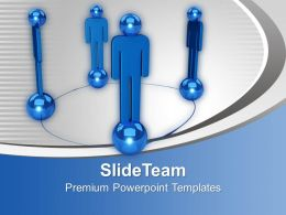 Blue Team As Networking Concept Business PowerPoint Templates PPT Themes And Graphics 0213
