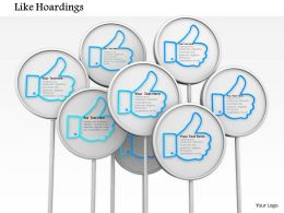 Blue Thumbs Up Like Hoardings For Social Media
