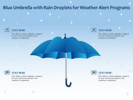 Blue Umbrella With Rain Droplets For Weather Alert Programs