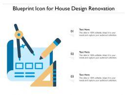 Blueprint Icon For House Design Renovation