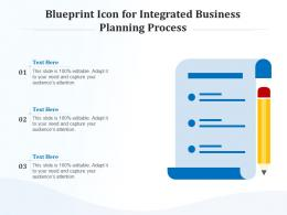 Blueprint Icon For Integrated Business Planning Process