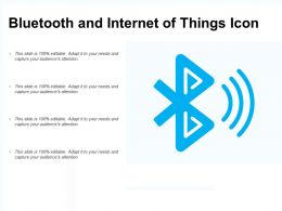 Bluetooth And Internet Of Things Icon