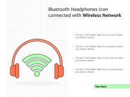 Bluetooth Headphones Icon Connected With Wireless Network