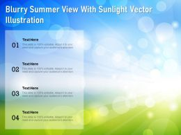 Blurry Summer View With Sunlight Vector Illustration
