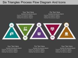 bm Five Triangles Process Flow Diagram And Icons Flat Powerpoint Design