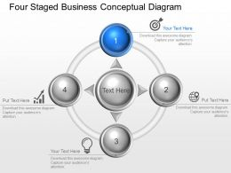 Bm Four Staged Business Conceptual Diagram Powerpoint Template Slide