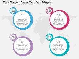 bm Four Staged Circle Text Box Diagram Flat Powerpoint Design