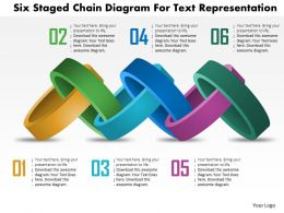 Bm Six Staged Chain Diagram For Text Representation Powerpoint Templets