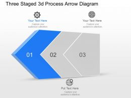Bm Three Staged 3d Process Arrow Diagram Powerpoint Template