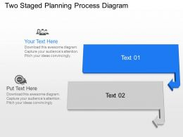 Bm Two Staged Planning Process Diagram Powerpoint Template Slide