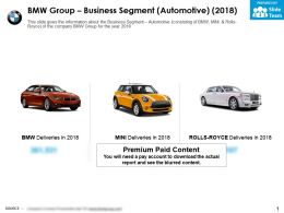 BMW group business segment automotive 2018