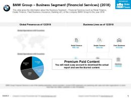 BMW group business segment financial services 2018