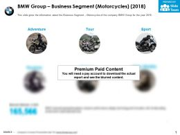 BMW group business segment motorcycles 2018