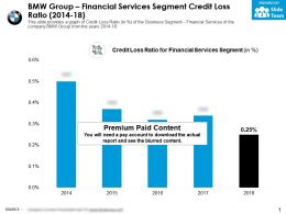 BMW Group Financial Services Segment Credit Loss Ratio 2014-18