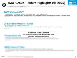 BMW group future highlights till 2025