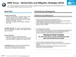 BMW group market risks and mitigation strategies 2018