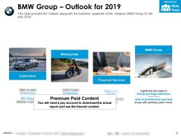 BMW group outlook for 2019