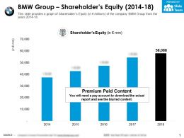 BMW Group Shareholders Equity 2014-18