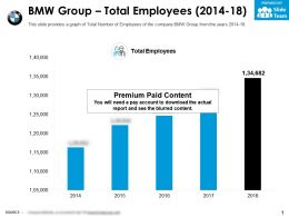 BMW Group Total Employees 2014-18