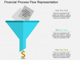 bn Financial Process Flow Representation Flat Powerpoint Design