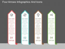 bn Four Arrows Infographics And Icons Flat Powerpoint Design