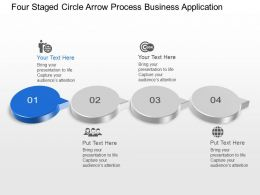 Bn Four Staged Circle Arrow Process Business Application Powerpoint Template Slide