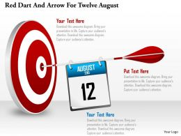 Bn Red Dart And Arrow For Twelve August Powerpoint Template