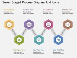 bn Seven Staged Process Diagram And Icons Flat Powerpoint Design