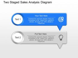 Bn Two Staged Sales Analysis Diagram Powerpoint Template Slide