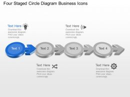 Bo Four Staged Circle Diagram Business Icons Powerpoint Template Slide