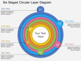 bo Six Staged Circular Layer Diagram Flat Powerpoint Design