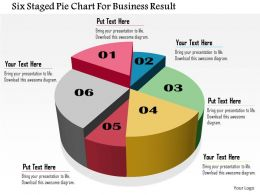 Bo Six Staged Pie Chart For Business Result Powerpoint Templets